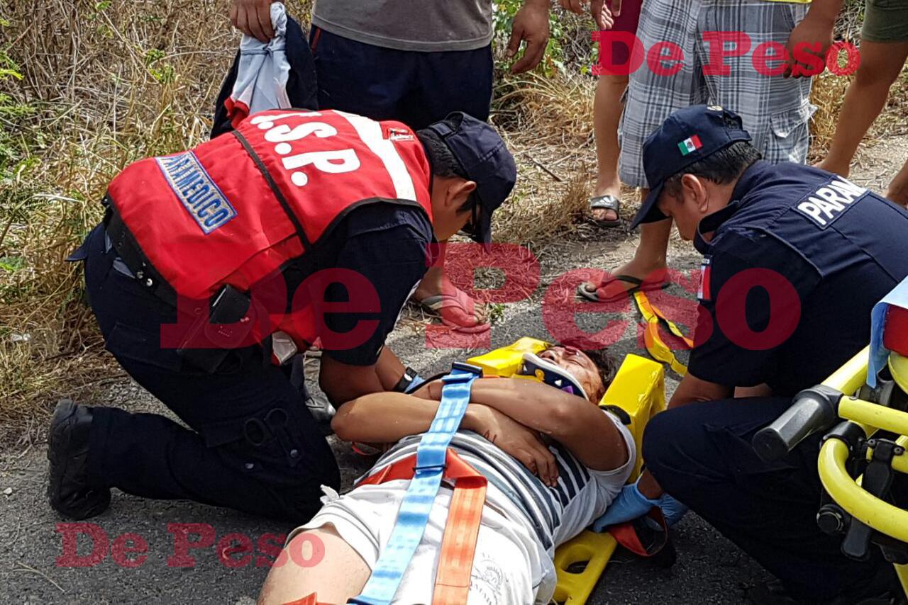 Pasajero salió disparado de una moto en movimiento