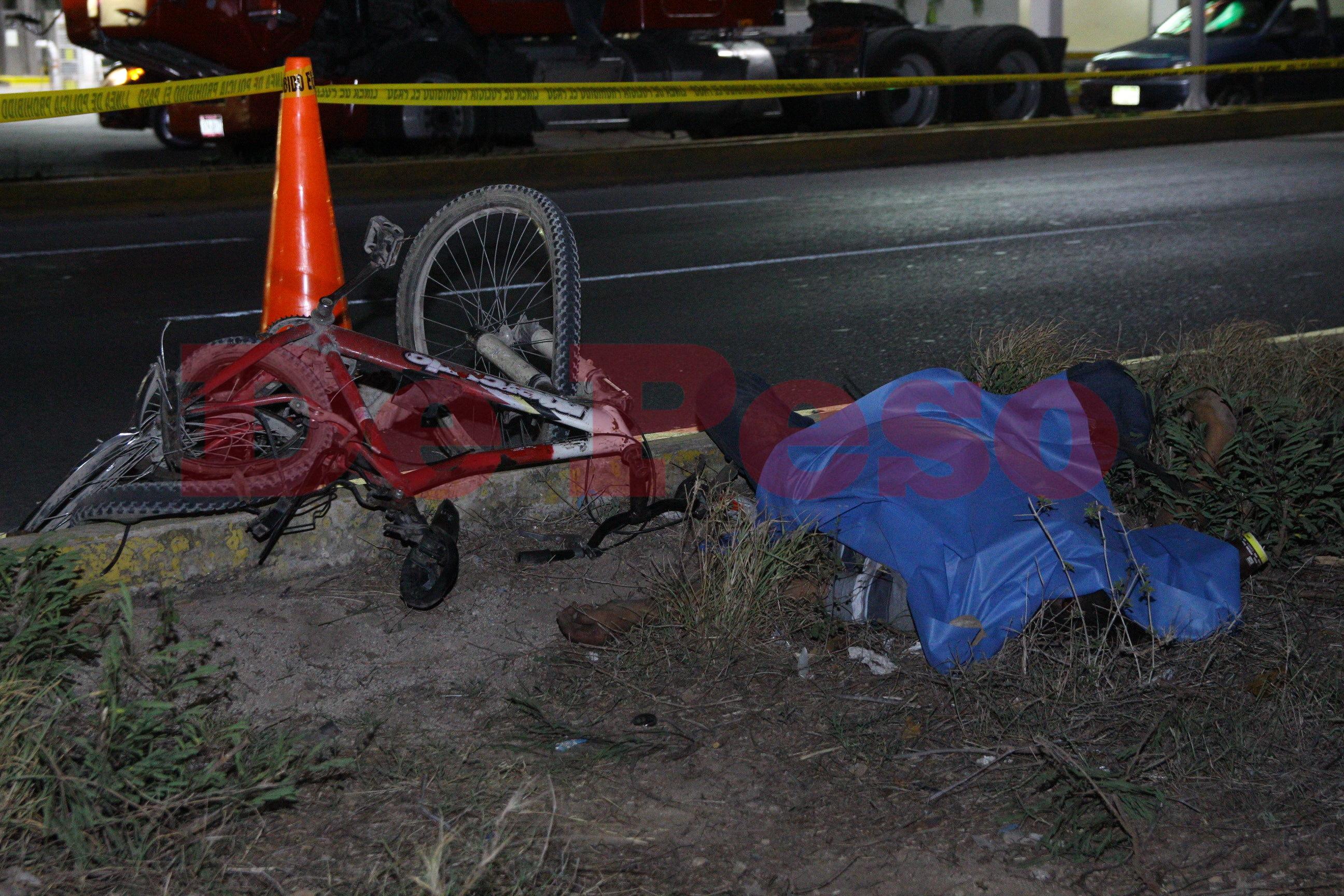 muere ciclista arrollado en carretera Mérida Cancún