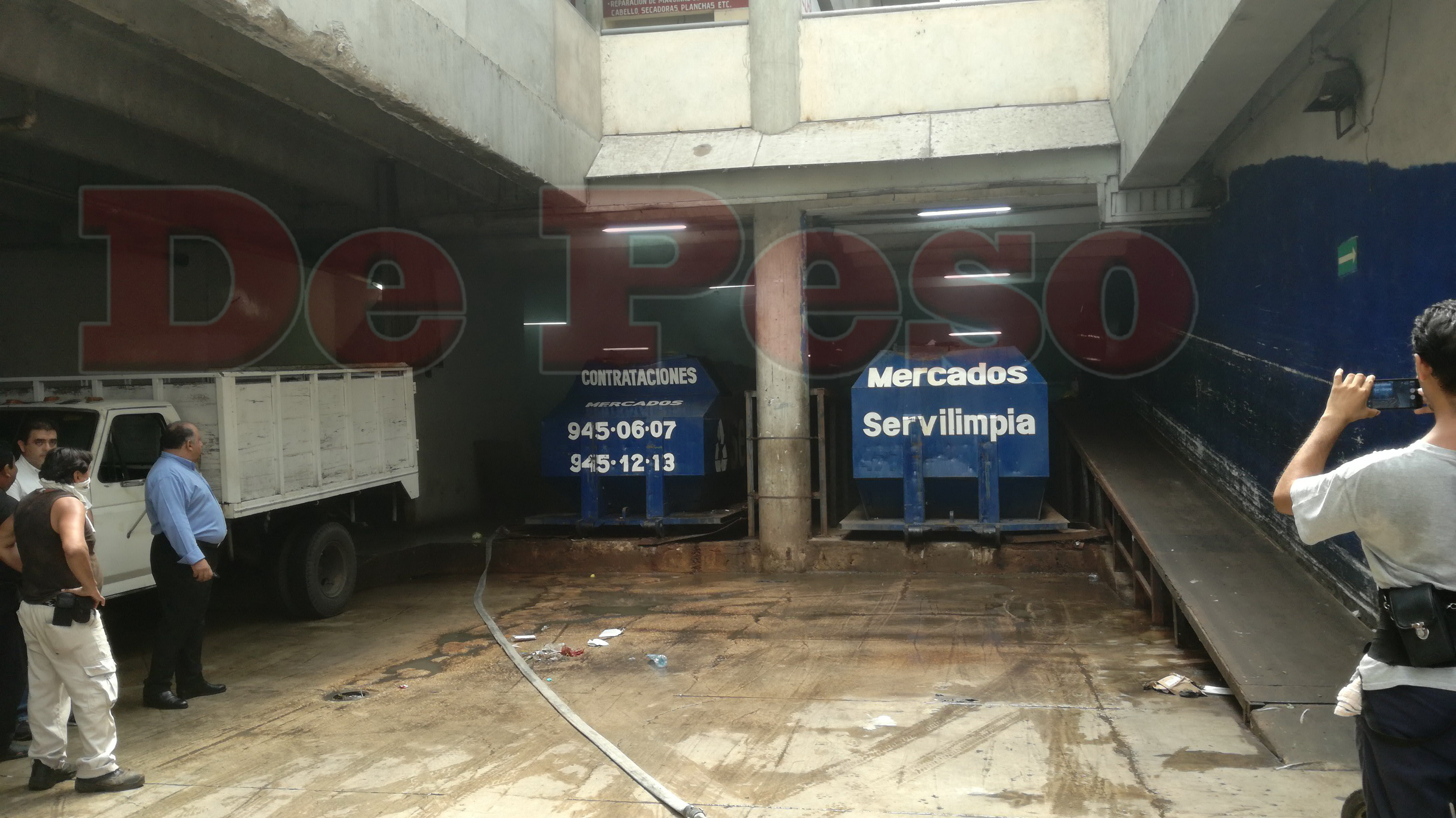 evacuación de Mercado de San Benito por gases tóxicos