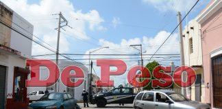 choque en el barrio de Santiago en Mérida