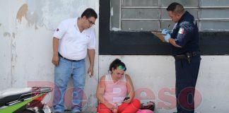 choca autobus de Situr a joven motociclista en Circuito Colonias