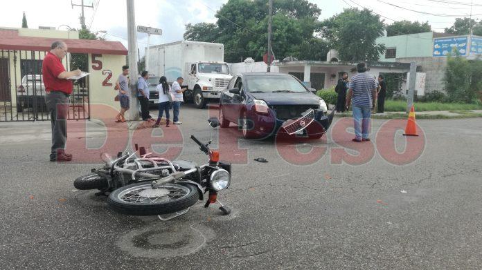 atropellan a motociclista en colonia Amalia Solorzano
