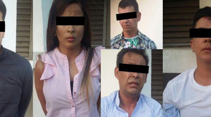 arrestan a cinco por asalto bancario en Prolongacion Montejo