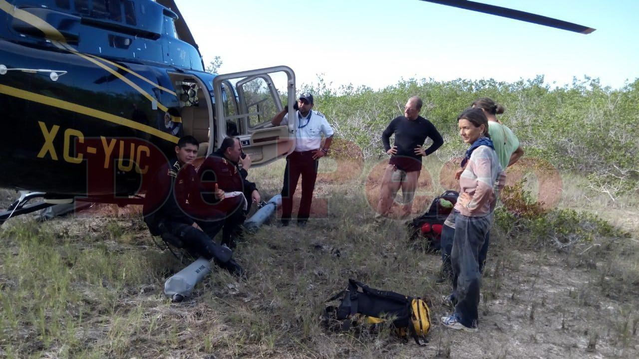 rescate de turistas en cienaga de Progreso