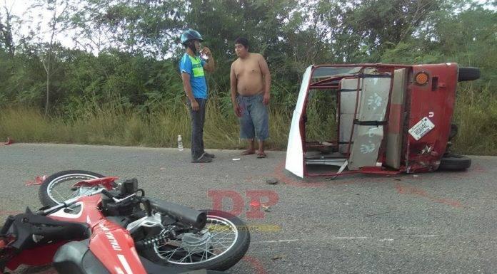 Choque de moto y mototaxi deja severamente lesionada a una niña