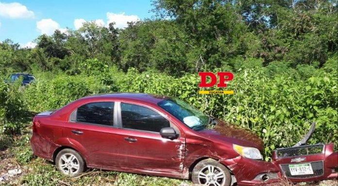 El accidente ocurrió poco antes de llegar al puente de la vía Mérida-Tetiz.