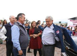 El presidente electo Andrés López Obrador, lució como niño con juguete nuevo.