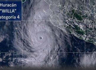 'Wila' se convierte en huracán peligroso de categoría 4