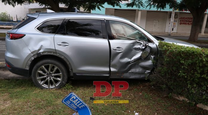 Varios pasajeros de una combi salieron heridos por la burrada de un automovilista.
