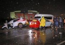 Por culpa de un beodo, un accidente de 5 vehículos se volvió de 8