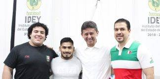 José Lino Montes (segundo desde la izquierda) quiere regresar a unos Olímpicos, y Josué Medina Andueza (i) quiere emularlo.