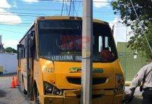 Aparatoso choque en Chuburná por culpa de un guiador 'cegatón'