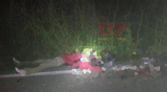 Dos muertos, entre ellos una persona descabezada, fue el saldo del accidente en la carretera Ticul-Santa Elena.
