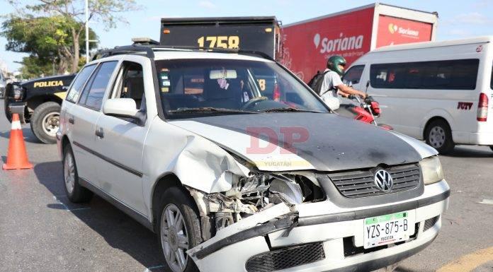 El choque fue justo en la Avenida Internacional con calle 108 de la colonia Nueva Sambulá.