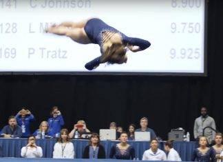 Se puede decir que hasta los jueces se quedaron cortos con los 10 que le dieron a la gimnasta.