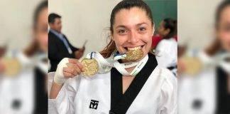 La taekwondoína Jessica García Quijano se colgó la plata en el mundial de la especialidad, en 2017.