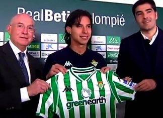 Lainez entrenó por primera vez en su carrera en el futbol de España.