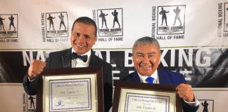 Los Guty Espadas, dos de los siete ex campeones mundiales yucatecos.