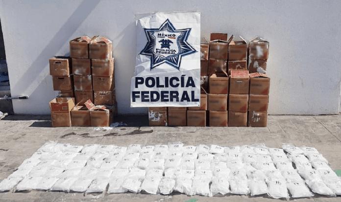 Cargamento de 70 kilos de metanfetamina queda en manos de la autoridad