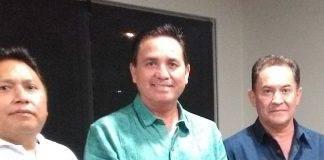 Francisco González Pinedo (c), presidente de la Federación Mexicana de taekwondo.