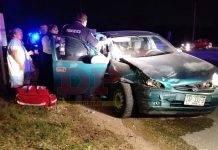 Otro accidente en conflictivo cruce en vía que lleva a Tetiz (video)