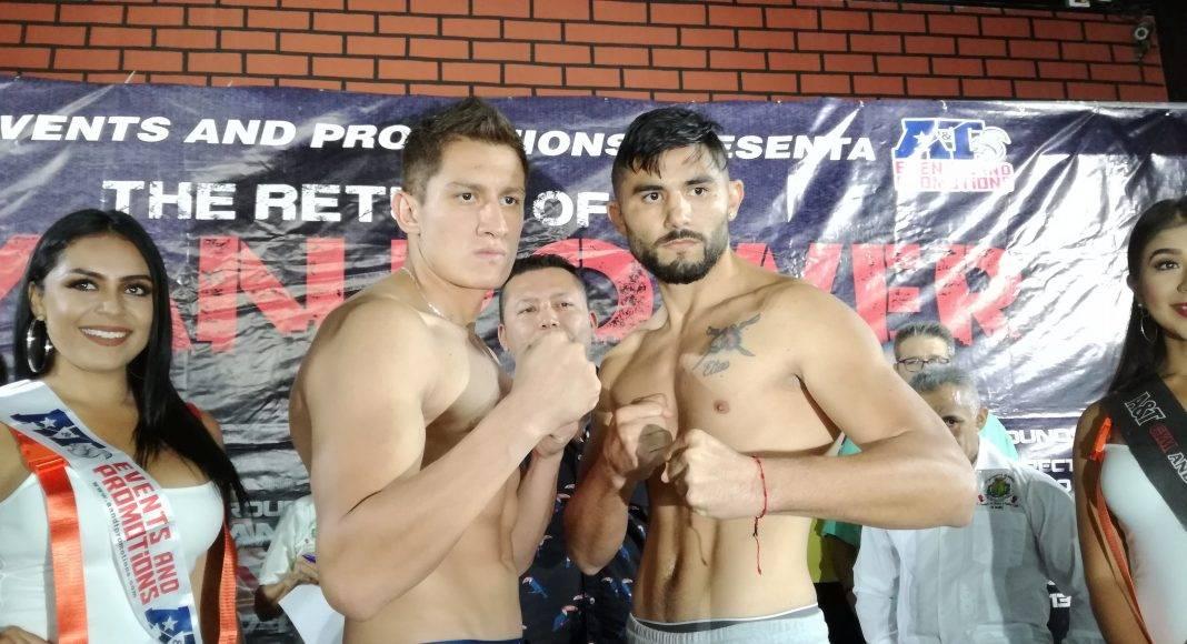 """Gabriel """"Drago"""" López se pasó por varios kilos. El yucateco Elías Espadas cumplió."""