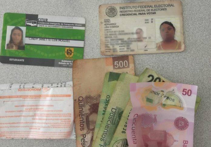 Dejan una buena lana y documentos extraviados en De Peso