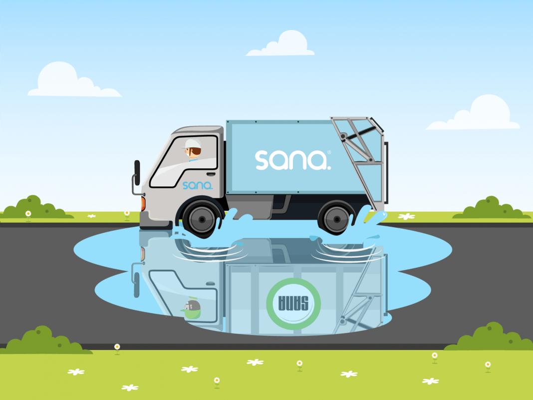 Camion de recolección de residuos SANA