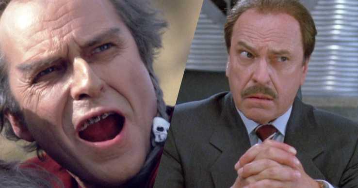 A la izquierda, en su interpretación de un villano en The Beastmaster (El Señor de las Bestias, 1982) y a la derecha, en el film Hombres de Negro (1997)