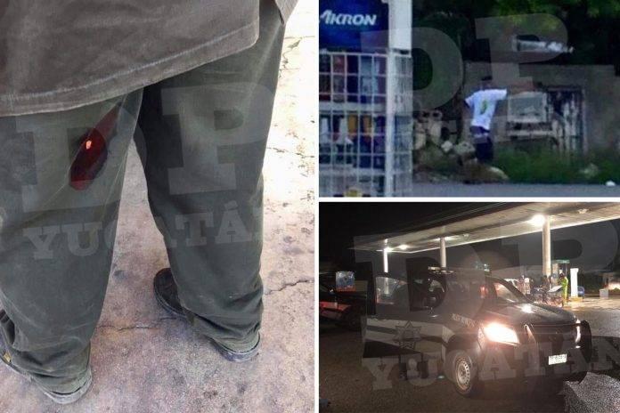 Asalto en gasolinera de Kanasín