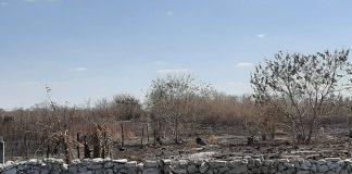 Así quedó la zona tras el incendio entre Izamal y Citilcum