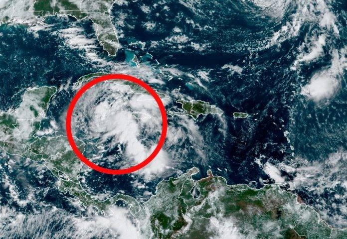 Depresión tropical viene hacia la Península de Yucatán
