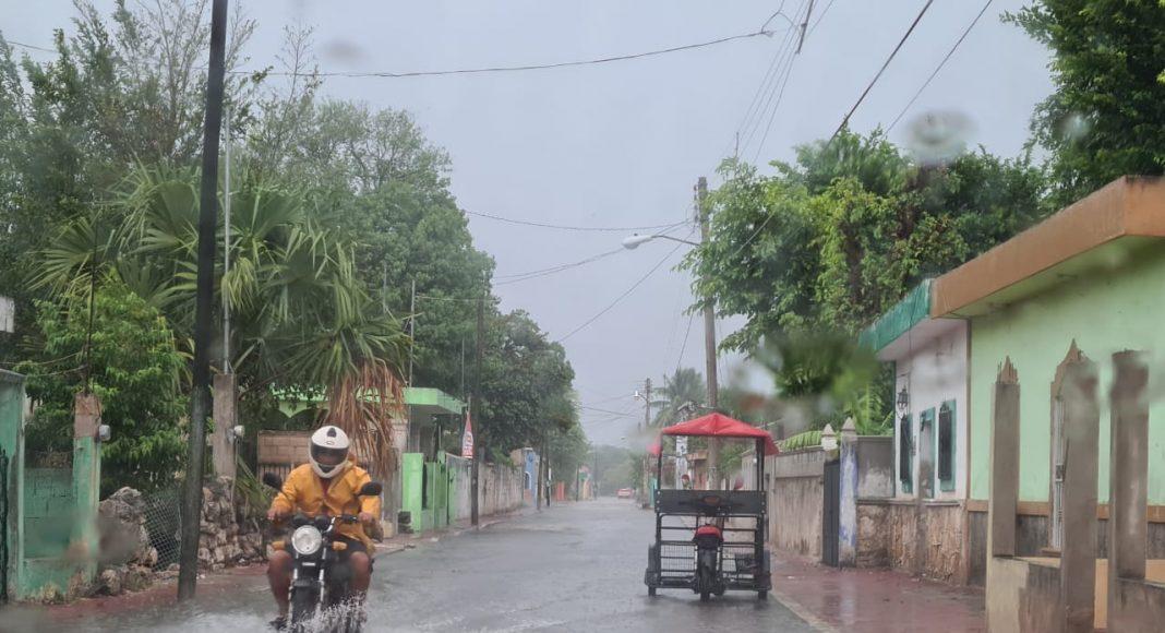 Kinchil y Samahil fueron algunos pueblos donde cayó un aguacero este jueves