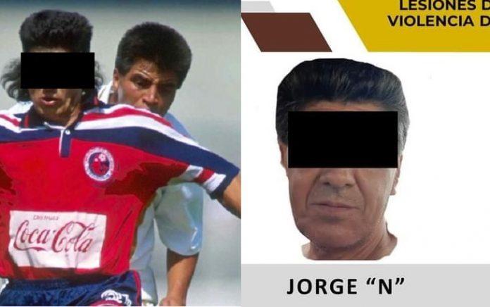 El acusado en sus tiempos de gloria (i) y detenido por la Fiscalía de Veracruz (d).