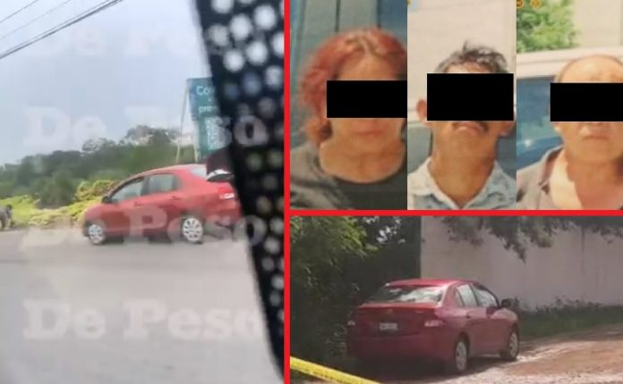 A la izquierda, el video que ha sido clave en el caso. Y abajo, el auto abandonado